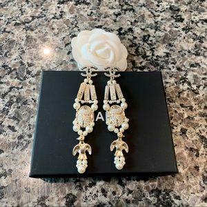 Chanel CC Gold Egyptian Theme earrings
